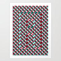 Typoptical Illusion A no.4 Art Print