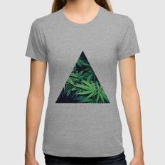 Smoke Weed Womens Fitted Tee Athletic Grey SMALL