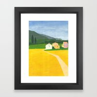 Three Houses Of Megasco Framed Art Print