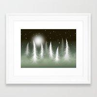 LOST SNOWFLAKE Framed Art Print