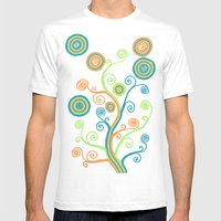 Glow Tree Mens Fitted Tee White SMALL