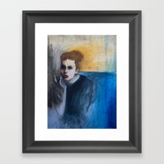 Woman in Smoke Framed Art Print
