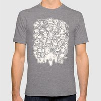 64Bit Mens Fitted Tee Tri-Grey SMALL