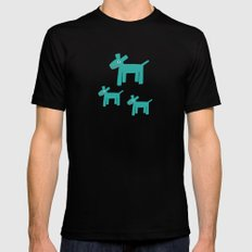 Dogs-Teal Mens Fitted Tee Black SMALL