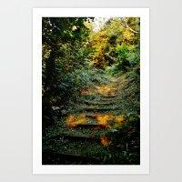 Enchanted Stairway Art Print