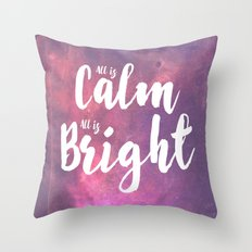Calm & Bright Throw Pillow