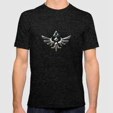 Zelda TRIFORCE Mens Fitted Tee Tri-Black SMALL