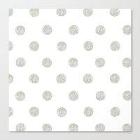 Grey Dots Canvas Print