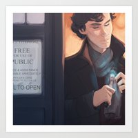 Consulting Timelord Art Print