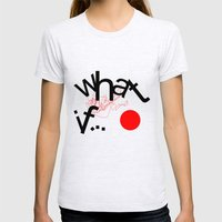 What If Womens Fitted Tee Ash Grey SMALL