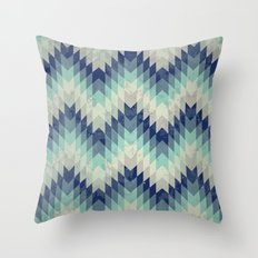 Chevron pattern_Blue Throw Pillow
