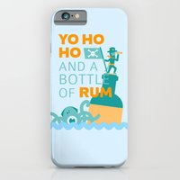 iPhone Cases featuring Yo Ho Ho and a Bottle of Rum by M. Gulin