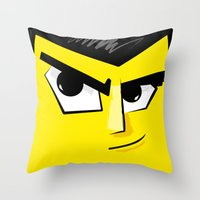 Post It Portrait: Samura… Throw Pillow