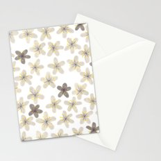 Grey and yellow flowers  Stationery Cards