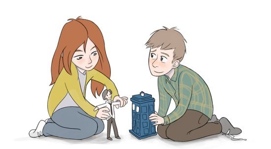 The Girl Who Waited, The Boy Who Waited, and Their Raggedy Doctor Canvas Print