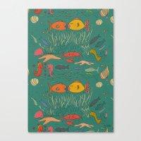 Fishy Kisses Canvas Print