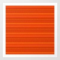 Lava - tribal geometrics Art Print