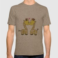 Giraffes in Love Mens Fitted Tee Tri-Coffee SMALL