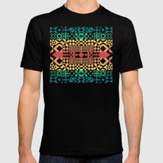Tribal Pattern Mens Fitted Tee Black SMALL