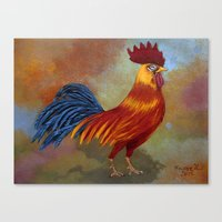 Rooster-3 Canvas Print