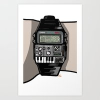 Synth Watch Art Print