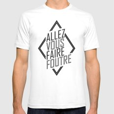 Allez Vous Faire Foutre Mens Fitted Tee SMALL White
