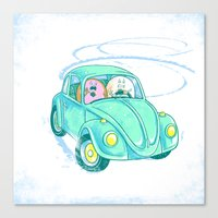 We're Doing Donuts!  Canvas Print