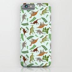 Dinosaurs & Leaves Slim Case iPhone 6s