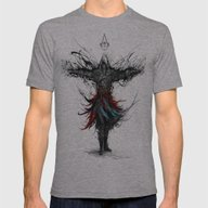 Assassins Creed Mens Fitted Tee Athletic Grey SMALL