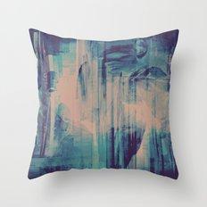 slow glitch Throw Pillow
