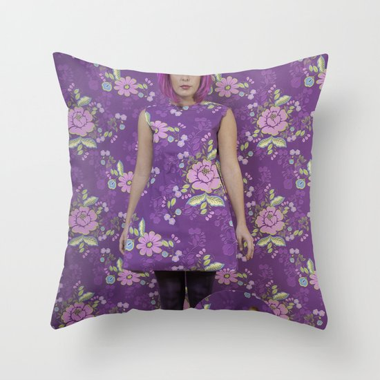 Wallflower Throw Pillow