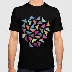Geometric Pattern III Black Mens Fitted Tee SMALL