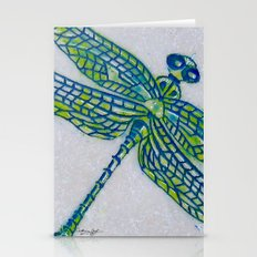 Dragon Fly Marble Original Art By Catherine Coyle Stationery Cards