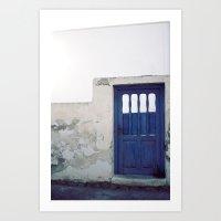 Santorini Door IV Art Print