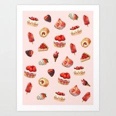 Red Desserts  Art Print