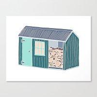 Little Log Cabin Canvas Print