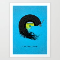 E Is For Empire Records Art Print