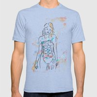 grenade girl Mens Fitted Tee Tri-Blue SMALL