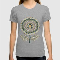 Fabby Flower-Mineral Col… Womens Fitted Tee Tri-Grey SMALL