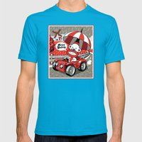Drive Safely Mens Fitted Tee Teal SMALL