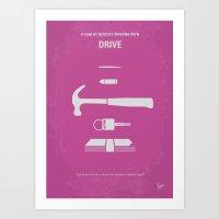 No258 My DRIVE Minimal M… Art Print