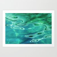 Water / H2O #67 (Water Abstract) Art Print