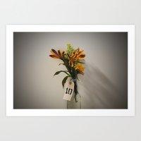 Lonely Flowers Art Print