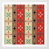 Modern Native American Pattern 2 Art Print