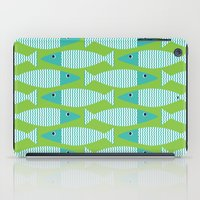 Wavy Bass - lime iPad Case