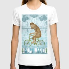 Dirty Wet Bigfoot Hipste… Womens Fitted Tee White SMALL