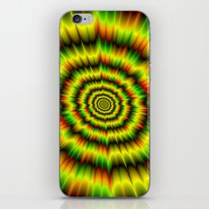 Colour Explosion in Yellow Green and Red iPhone & iPod Skin