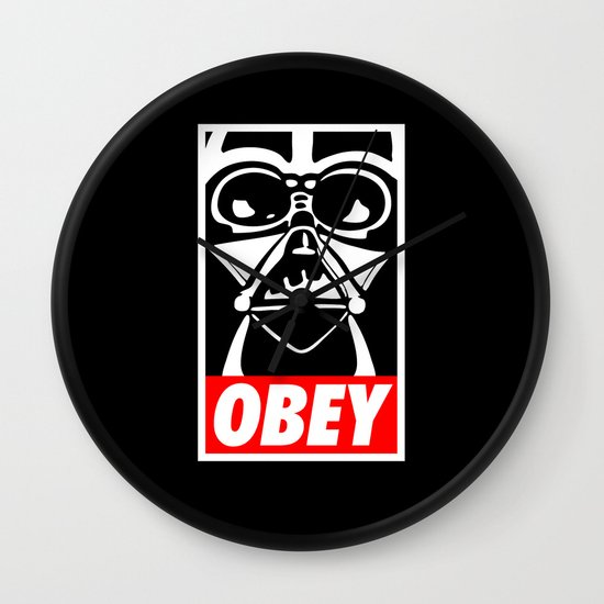 Obey Darth Vader - Star Wars Wall Clock