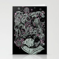 Irregular Sleeping Patte… Stationery Cards
