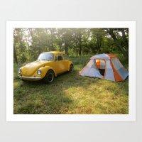 Outdoorsy Bug Art Print